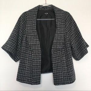 Apt 9 Black Gray White 3/4 length sleeve blazer